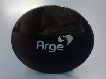 Emblema da Grade do Ventilador ARGE Preto Logotipo Preto