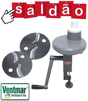 Processador Manual de Alimentos - Processador Fatiador de Alimentos Manual - Vitalex - SALDÃO