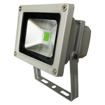 Luminária Projetor de LED Branca Luz Verde 10W 700Lm Ourolux Bivolt