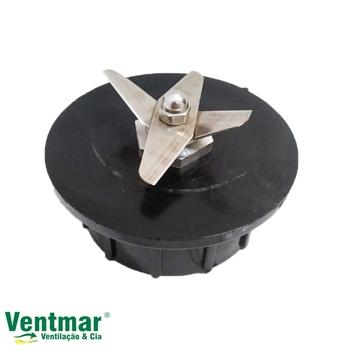 Base do Copo Triturador do Liquidificador Vitalex 2 Litros Alta Rotação - Com Mancal, eixo e Lâminas
