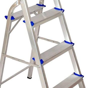 Escada de Alumínio 07 Degraus Doméstica Real Escadas - Patamar bi-partido Maior Durabilidade