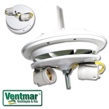 Motor para Ventilador de Teto Latina Silenzio Lumen VT673 - Ventilador VT633 220v130w 03,0uF - Com Haste Com Plafon+Soquetes *Apenas o Motor