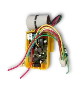 Módulo Receptor para Controle Remoto Latina 127v08,0uF Luz Amarela c/Cap.3,0+5,0mF *Sincroniza Apenas c/Módulo Transmissor Luz Amarela