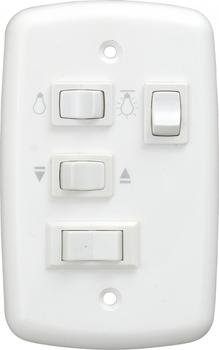 Chave para Ventilador de Teto VOLARE 127Volts de 3Velocidades com Capacitor 10,5uF 4,6+6,5mF - Liga 2 Lampadas