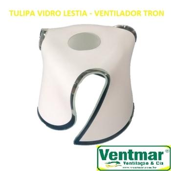 Globo Cúpula Tulipa de Vidro para Ventilador de Teto Tron - Luminária Lestia - VIDROTRON