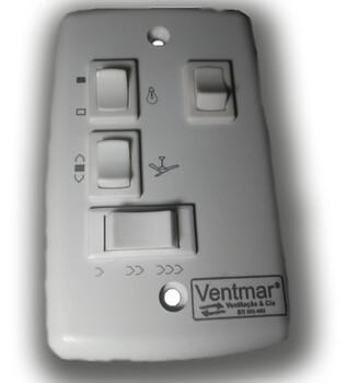 Chave para Ventilador de Teto Loren Sid 220V 3Velocidades Cap.3Fios 04,0uF (1,5+2,5 mF) Liga 1 Lampada - Chave Venti-Delta - Ventisol MX - Spirit