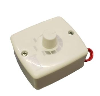 Chave para Ventilador Tron de Parede 50/60cm Motor até 200w - c/Caixa Fundo Mini 7x8cm - Controle c/Dimer Rotativo Bivolts 200W com Clique
