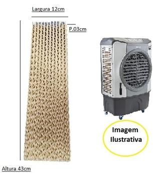 Colméia para Climatizador Ventisol CLI-01 CLI-02 - Parte Lateral - Espessura 3,0cm x L12 x A43cm - Painel Evaporativo Lateral - Climatizador Ventisol