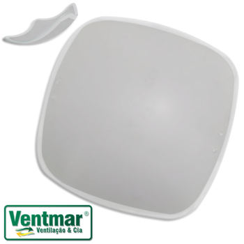 Globo Cúpula Vidro da Luminária Plafon Agata Smart Chile - Vidro Quadrado com Borda Arredondada Cris