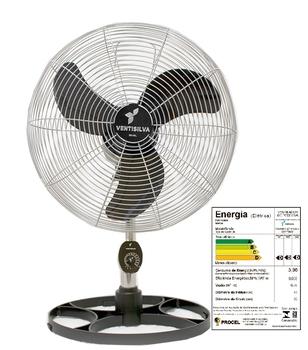 Ventilador de Coluna 50cm Ventisilva VENTI50CC Biv 137/135W Preto Hélice 3Pás Grades/Colunas Metal Pintura Epóxi Cromada - c/Controle de Velocidade