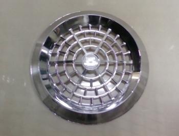 Grade do Exaustor LOREN SID 25cm Plástico Cromado - GRADELSD