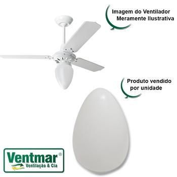 Globo Cúpula Plástica Tipo Pêra para Ventilador de Teto - Globo Tipo Pera