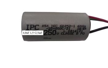 Capacitor para Ventilador de Teto 220Volts 04,0uF 3Fios 1,5+2,5mF 380/400Vac - Ventiladores Tron, Loren Sid, Volare, Venti-Delta, Arge, etc. CAP004,0
