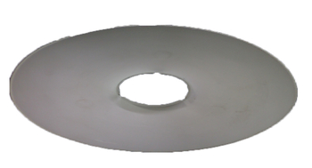 Canopla 0391 Plastica Branca - Capa Plástica do Suporte do Ventilador de Parede Ventisol - Branca