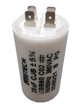 Capacitor de Partida para Portão Eletrônico - Capacitor de 20,0uF 380VAC com Terminais 4Pólos - Capacitor para Motor Elétrico - Motor de Portão de Ele