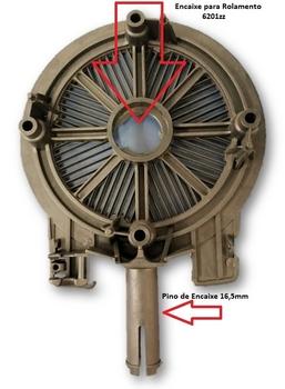 Tampa Dianteira Ventilador Solaster Acapulco Preta - Modelo Atual - Tampa com Pino 16,5mm de Encaixe