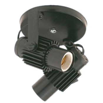 Luminária Spot para 2 Lâmpadas 2x60W Preto