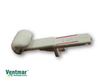 Garra Trava do Vidro Ventilador Venti-Delta Magnes Branco - Trava Plastica FIXA sem MOLA - EMI - Vendida p/Unidade