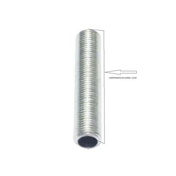 Nipel de Metal com Rosca - 15cm Comprimento - Para Luminárias - Niple de Metal 150mm