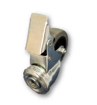 Roda Giratória 60mm COM Freio - Roda Giratória Para Climatizador Mega Brisa MB70 MC70 MC60 - *Vendida p/Unidade