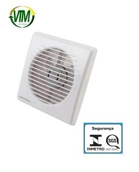 Exaustor de 15cm para Banheiro/Ambientes Ventisol EXB150-02 220V22W MX Premium Vazão 186m3h P/até 10m2 - Microventilador Exaustor 100mm Residencial Br