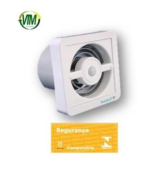 Exaustor para Banheiro e Ambientes até 08m2 - Diâmetro 12cm Renovador de ar Ventokit C150D com Sensor de Presença Bivolts Vazão 150m3h