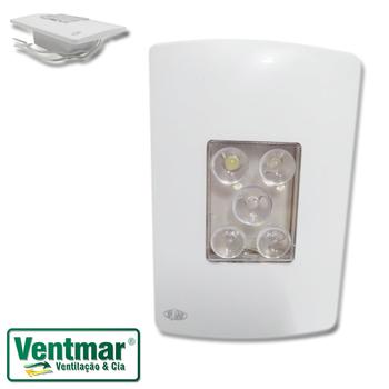 Luminária de Emergência Bivolt - LED de Emergência Embutido PW Bivolt - Espelho 4x2