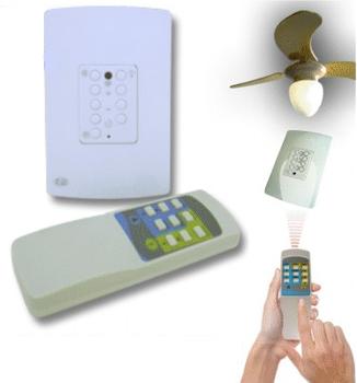 Controle Remoto para Ventilador de Teto com Placa Painel de Parede PW Bivolt - CREMPW - CREMVT
