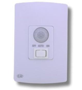 Sensor de Presença c/Tecla 3 Funções - Placa Espelho 4x2 com Interruptor Bivolt - Fornecedor PW - Se