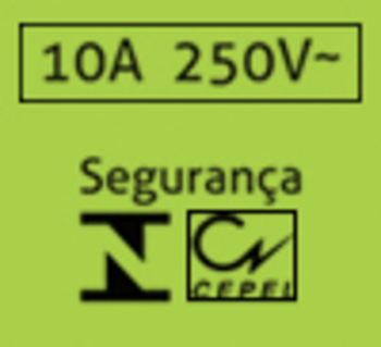 Interruptor de Luz 1 Tecla Simples Liga/Desliga+1 Tomada 1TLD+1TOM
