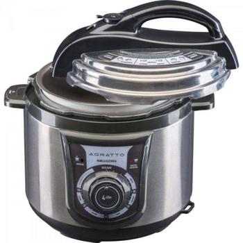 Panela De Pressao Eletrica em Inox PE-01 127v 800w Cinza/Preta - Mr.Cheff Agratto (OCP-0040 SGS)