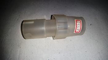 Travante da Coluna do Ventilador Venti Delta 40cm - Luva Acabamento Branca Plástica - Kit-02 Itens -