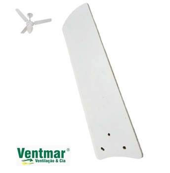 Pá Hélice para Ventilador De Teto TRON New Marbela Branca - Modelo Reta - Vendida p/Unidade - Medida L10,5 x C38cm