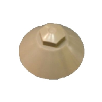 Capa da Porca do Eixo do Climatizador Joape - Lado do Disco - Capa Plástica Cinza - Apenas a Capa Sem a Porca