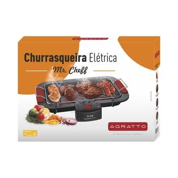 Churrasqueira Elétrica Grill Portatil 127v 1800w - Assador Mr.Cheff Agratto - (OCP-0040 SGS)