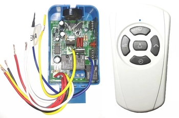 Controle Remoto para Ventilador de Teto VOLARE 110 ou 220v - Kit c/Receptor+Transmissor/SEM CAPACITO