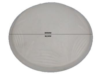 Globo Cúpula Vidro Ventilador Arge Requinte RENO - Vidro Fosco 305,0mm com Detalhes Decorativos - Di