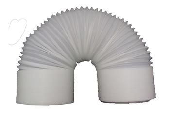 Duto Flexível de Plástico PVC 15cm para Ar Condicionado Portátil VENTISOL AGRATTO - Tubo Flexível de