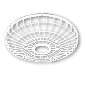 Grade Ventilador Orbital 360º Loren Sid 50cm - Grade Plástica Branca + Aberta - Serve Tanto para Dianteira ou Traseira - Vendida p/Unidade