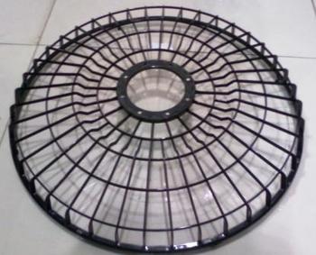 Grade Ventilador Orbital 360º Loren Sid 50cm - Grade Plástica Preta + Aberta - Serve Tanto para Dianteira ou Traseira - Vendida p/Unidade