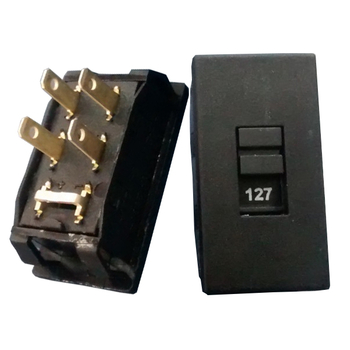 Chave de Voltagem - Chave Seletora de Tensão 127/220v 4 Polos - Chave de Voltagem - Chavinha HH201 -