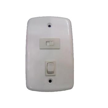 Chave para Ventilador - Chave para exaustor 1 Tecla Liga/Desliga + 1 Tecla de Reversão para Exaustor