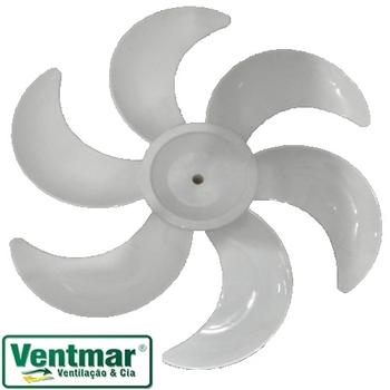 Hélice para Ventilador Dômina 50cm 6Pás Eixo 12,7mm - Domina Neo Branco - Diâmetro 43,2cm - Ponta Re