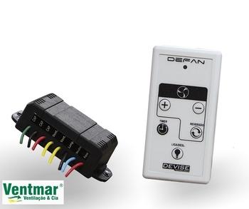 Controle Remoto Universal para Ventilador de Teto de 3Velocidades - VTC1040 Devise Bivolts - Aplica-se em Vários Modelos