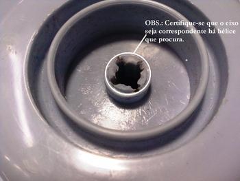 Helice para Ventilador MALLORY Boreal Flesch 30cm 3Pas - Eixo 8,0mm Ponta Cruzetta c/Trava Traseira