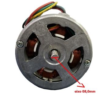 Motor para Churrasqueira Giratória Giragrill Biv 1/30cv Eixo 8,0mm c/Rosca Sem Fim SEM Ventoinha SEM caneco SEM capa plástica - Serve para GiroKit