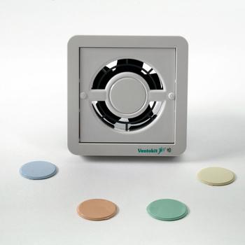 Exaustor de 10cm para Banheiro e Ambientes até 05m2 - Ventokit Aquarela C80A Bivolts Vazão 80m3h