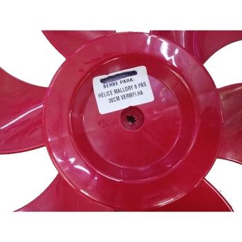 Hélice para Ventilador MALLORY 30cm 6 Pás Vermelha HELVOMALLORY HEL30 HELMALLORY