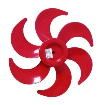 Helice para Ventilador Cadence Eros Supreme 30cm 6Pas Vermelha - Eixo 8,0mm Ponta Meia Lua Sem Trava Traseira - Hélice Ventilador Cadence de 30cm