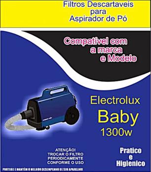 Saco Descartável para Aspirador de Pó Electrolux BABY 130w - Saco para aspirador de Pó Baby - Kit co
